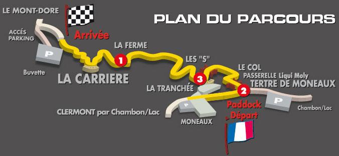 plan-course - Course de côte du mont dore